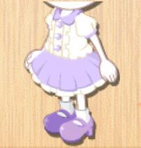 フリルコーデ 紫