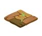 木製のタイル