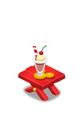 ビーチテーブル 赤