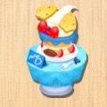 バースデーケーキ 青