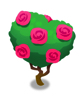 赤いバラのトピアリー