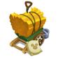 木で作った荷車