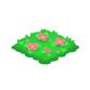 お花の芝生 桃