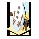 オラフ風サーフボード