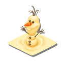 オラフの砂像