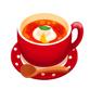 ポーチドエッグ トマトスープ