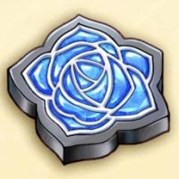 青薔薇のブローチ