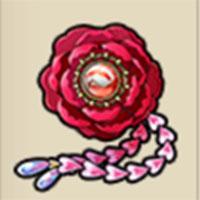 朱玉の花飾り