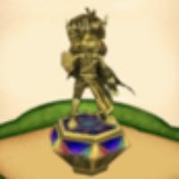 王冠ガルガの像