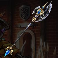 白銀の槍斧