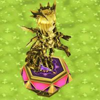 王冠オスクロルの像