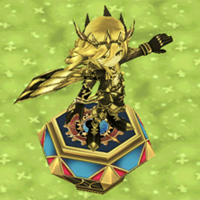 王冠ユキムラの像